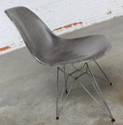Charles Ray Eames Vintage mid century modern herman miller eames dsr chair elephant hide grey - 1682106