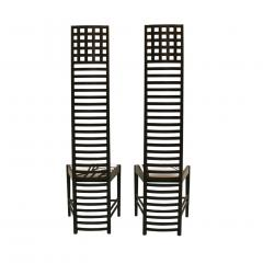 Charles Rennie Mackintosh Mid Century Modern Mackintosh 292 Hill House 1 Italian Pair of Ashwood Chairs - 1165759