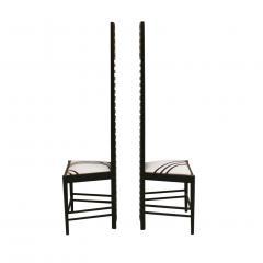 Charles Rennie Mackintosh Mid Century Modern Mackintosh 292 Hill House 1 Italian Pair of Ashwood Chairs - 1165762