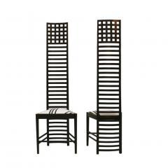 Charles Rennie Mackintosh Mid Century Modern Mackintosh 292 Hill House 1 Italian Pair of Ashwood Chairs - 1165764