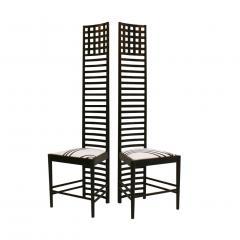 Charles Rennie Mackintosh Mid Century Modern Mackintosh 292 Hill House 1 Italian Pair of Ashwood Chairs - 1165765