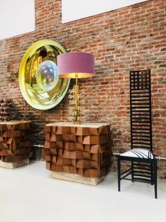 Charles Rennie Mackintosh Mid Century Modern Mackintosh 292 Hill House 1 Italian Pair of Ashwood Chairs - 1165768