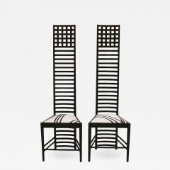 Charles Rennie Mackintosh Mid Century Modern Mackintosh 292 Hill House 1 Italian Pair of Ashwood Chairs - 1165897