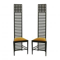 Charles Rennie Mackintosh Mid Century Modern Mackintosh 292 Hill House 1 Italian Pair of Ashwood Chairs - 1165772