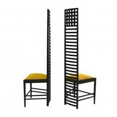 Charles Rennie Mackintosh Mid Century Modern Mackintosh 292 Hill House 1 Italian Pair of Ashwood Chairs - 1165774
