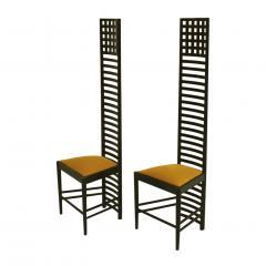 Charles Rennie Mackintosh Mid Century Modern Mackintosh 292 Hill House 1 Italian Pair of Ashwood Chairs - 1165775
