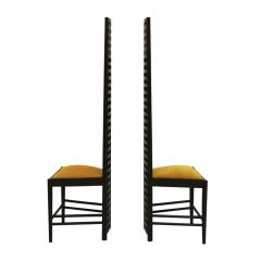 Charles Rennie Mackintosh Mid Century Modern Mackintosh 292 Hill House 1 Italian Pair of Ashwood Chairs - 1165776