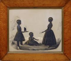 Charles Samuel Herv Stunning Conversation of Children by Charles Herv II c 1785 1866  - 1727940