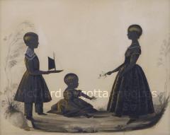 Charles Samuel Herv Stunning Conversation of Children by Charles Herv II c 1785 1866  - 1728252