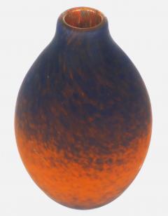 Charles Schneider Charles Scheider French Art Deco Cobalt Blue to Orange Vase circa 1930 - 523461