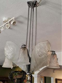 Charles Schneider French Schneider Art Deco Chandelier - 1723230