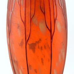 Charles Schneider Le Verre Francais Cardimine Cameo Glass Vase - 113064