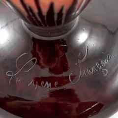 Charles Schneider Le Verre Francais Cardimine Cameo Glass Vase - 113067