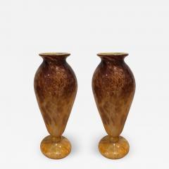 Charles Schneider Pair of Blown Glass Vases - 518548