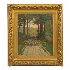 Charles T Phelan Heading Home 1894 Antique Landscape Painting by Charles T Phelan - 1127002
