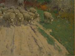 Charles T Phelan Heading Home 1894 Antique Landscape Painting by Charles T Phelan - 1127009