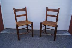 Charles Webb Pair of Teak and Rush Dining Chairs by Charles Webb - 1606438