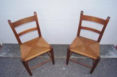 Charles Webb Pair of Teak and Rush Dining Chairs by Charles Webb - 1606439