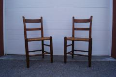 Charles Webb Pair of Teak and Rush Dining Chairs by Charles Webb - 1606442