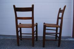 Charles Webb Pair of Teak and Rush Dining Chairs by Charles Webb - 1606448