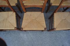 Charles Webb Set of Eight Teak and Rush Dining Chairs by Charles Webb - 1606422