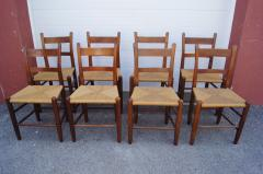 Charles Webb Set of Eight Teak and Rush Dining Chairs by Charles Webb - 1606423