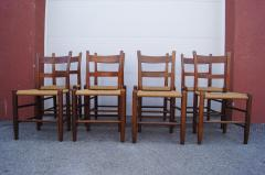 Charles Webb Set of Eight Teak and Rush Dining Chairs by Charles Webb - 1606425
