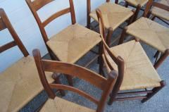 Charles Webb Set of Eight Teak and Rush Dining Chairs by Charles Webb - 1606426