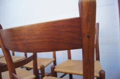 Charles Webb Set of Eight Teak and Rush Dining Chairs by Charles Webb - 1606427