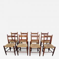 Charles Webb Set of Eight Teak and Rush Dining Chairs by Charles Webb - 1637653