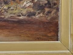 Charles Wilson Knapp View of the Susquehanna River a Landscape Oil Painting by Charles Wilson Knapp - 1138971