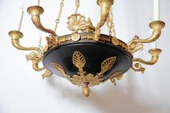 Charles X Gilt and Patinated Bronze Eight Light Chandelier - 1925572