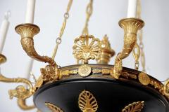 Charles X Gilt and Patinated Bronze Eight Light Chandelier - 1925574