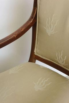 Charles X Inlaid Mahogany and Walnut Open Armchair France - 364334