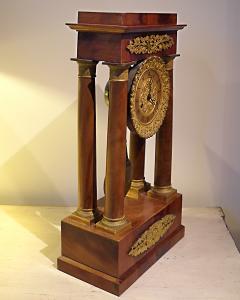 Charles X Mahogany Mantel Clock - 513472