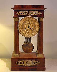 Charles X Mahogany Mantel Clock - 513473