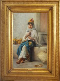 Charles Z Landelle Petite Marchande de Banane Orientalist - 471269