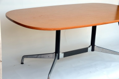 Charles and Ray Eames Beautiful Segmented Base and Bamboo Top Table by Eames for Herman Miller - 873196