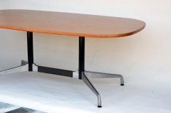Charles and Ray Eames Beautiful Segmented Base and Bamboo Top Table by Eames for Herman Miller - 873198