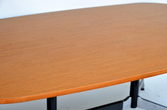 Charles and Ray Eames Beautiful Segmented Base and Bamboo Top Table by Eames for Herman Miller - 873199