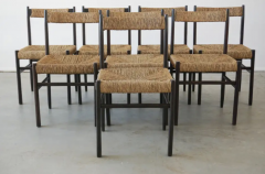 Charlotte Perriand CHARLOTTE PERRIAND ATTRIBUTED DINING CHAIRS FOR ROBERT SENTOU SET OF 8 - 1885174