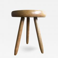 Charlotte Perriand Charlotte Perriand 1950s High Tripod Ash Tree Stool in Vintage Condition - 367224