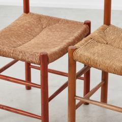 Charlotte Perriand Charlotte Perriand Dordogne chairs Robert Sentou France c1950 8 available - 1130859