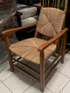 Charlotte Perriand Charlotte Perriand Iconic Rush Arm Chair in Genuine Vintage Condition - 605418