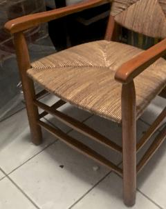 Charlotte Perriand Charlotte Perriand Iconic Rush Arm Chair in Genuine Vintage Condition - 605419
