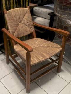Charlotte Perriand Charlotte Perriand Iconic Rush Arm Chair in Genuine Vintage Condition - 605420
