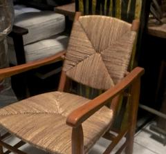Charlotte Perriand Charlotte Perriand Iconic Rush Arm Chair in Genuine Vintage Condition - 605421