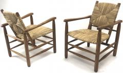 Charlotte Perriand Charlotte Perriand Iconic pair of Rush Arm Chair in Genuine Vintage Condition - 1119581