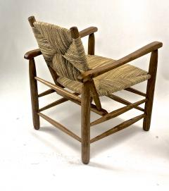 Charlotte Perriand Charlotte Perriand Iconic pair of Rush Arm Chair in Genuine Vintage Condition - 1119585