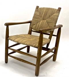 Charlotte Perriand Charlotte Perriand Iconic pair of Rush Arm Chair in Genuine Vintage Condition - 1119588